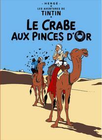 Poster - Le Crabe aux Pinces d'Or - Krabban med guldklorna