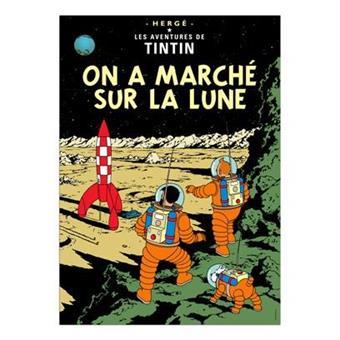 Poster - Tintin On a marché sur la lune -Månen tur och retur