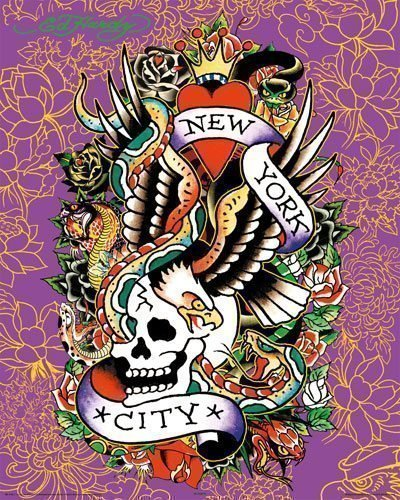 Ed Hardy Poster New York city