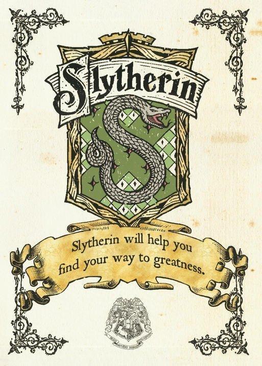 Pergament - Harry Potter - Slytherin Crest