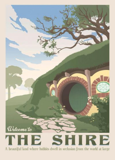 Pergament - Lord of the rings - Welcome to The Shire