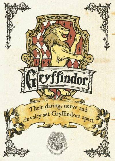 Pergament - Harry Potter - Gryffindor Crest