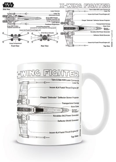 Star Wars - X-Wing Fighter Sketch - Mugg
