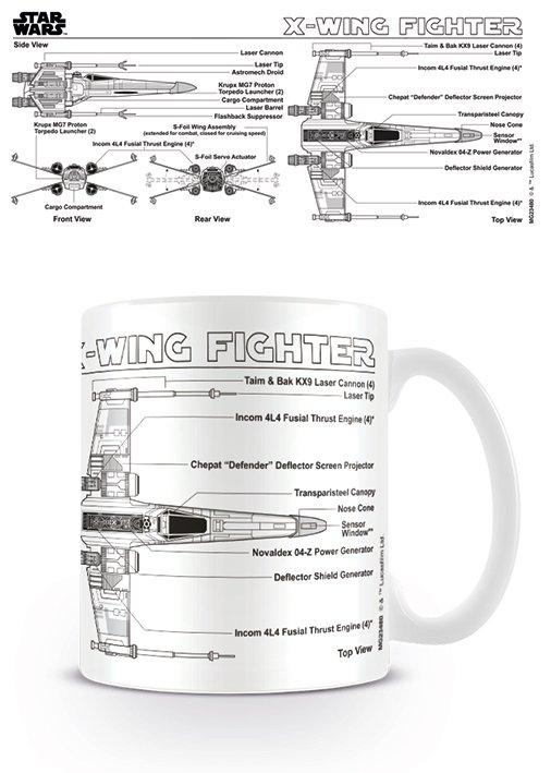 Star Wars - X-Wing Fighter Sketch - Mugg