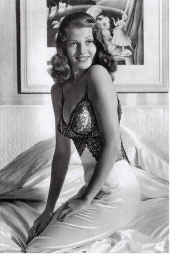 Rita Hayworth - Svart / vit
