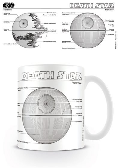Star Wars - Death Star Sketch - Mugg