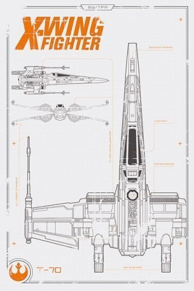 Star Wars Episode VII - X Wing Plans