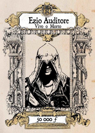 Pergament -Assassins Creed - Ezio Auditore Vivo o Morte