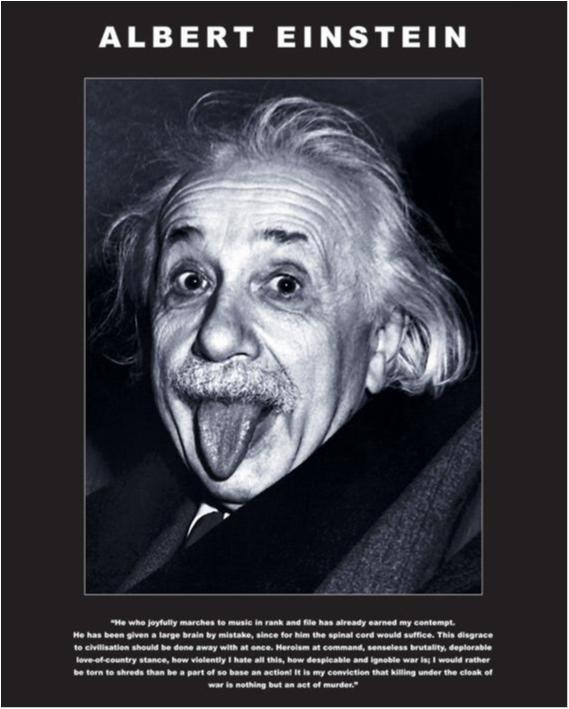 Albert Einstein - tongue
