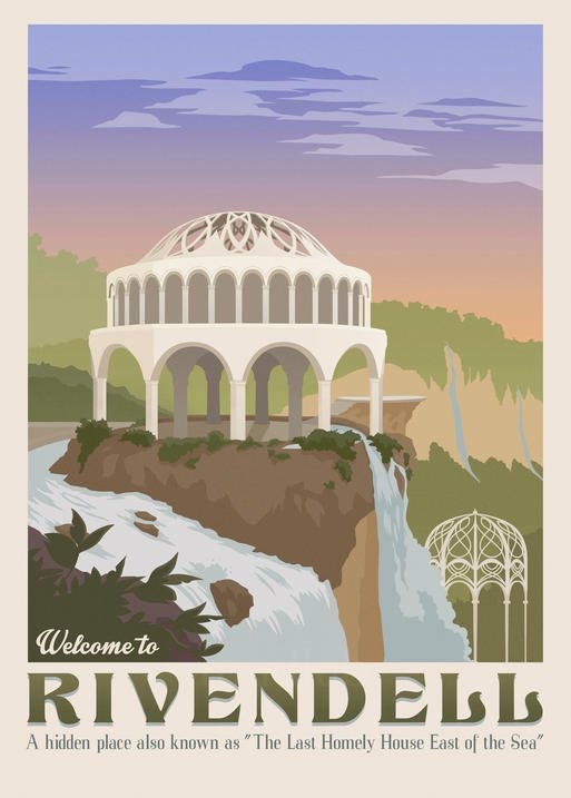 Pergament - Lord of the rings - Welcome to Rivendell