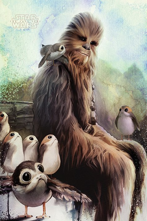 Star Wars - The Last Jedi - Chewbacca & Porgs
