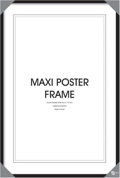 Svart träram som passar 61 x 91,5 cm affischer
