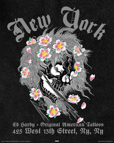 Ed Hardy Poster New York