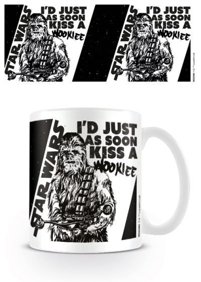 Star Wars - Kiss a Wookie - Mugg