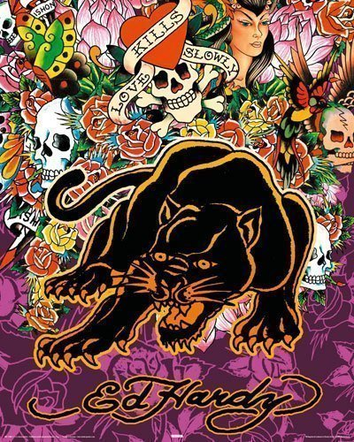 Ed Hardy Poster Black Panther