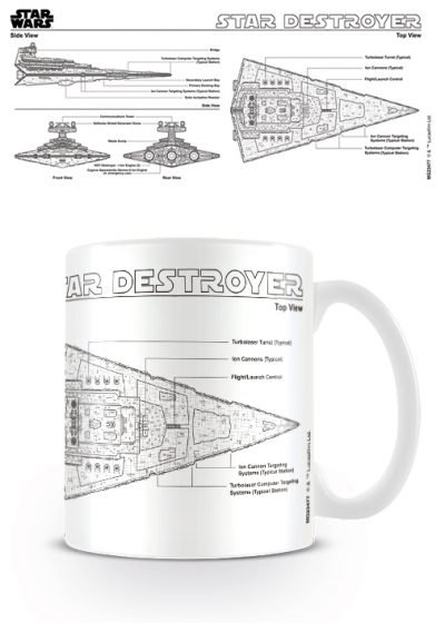 Star Wars - Star Destroyer Sketch - Mugg