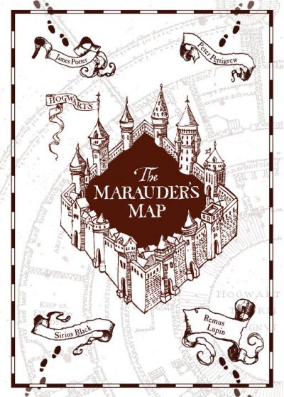 Pergament - Harry Potter - Marauders Map