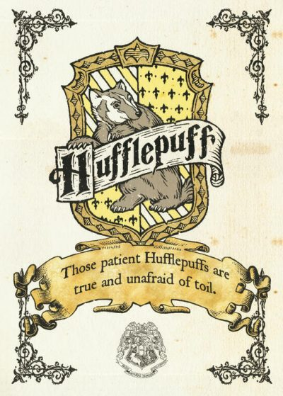 Pergament - Harry Potter - Hufflepuff Crest