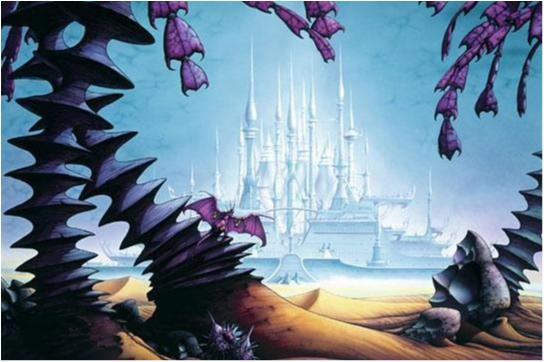 Rodney Matthews - Fantasy Art 8 (City in lights)