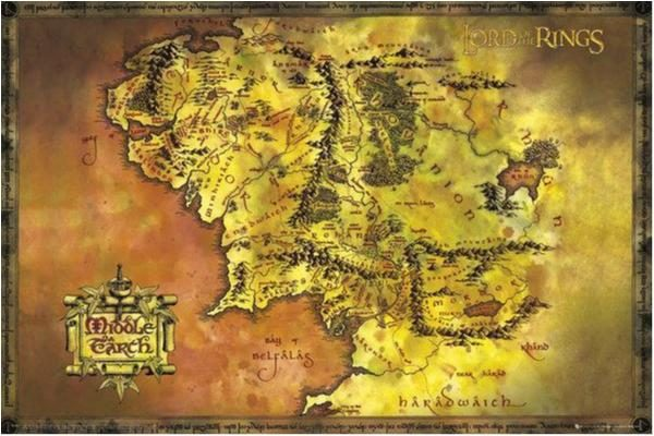 Lord of the rings - Classic map - Sagan om ringen