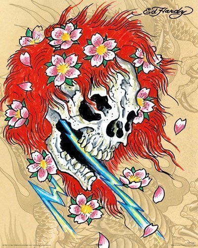 Ed Hardy Poster Redhead