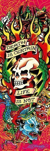 Ed Hardy Poster Death is certain