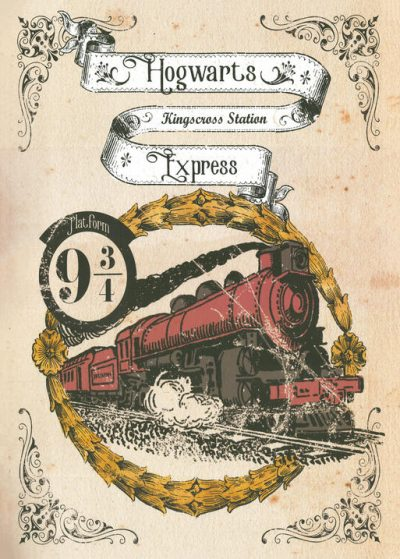Pergament - Harry Potter - Hogwarts Express