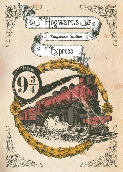 Pergament - Harry Potter - Hogwarts Express