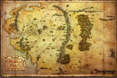 Middle Earth - The Hobbit - Journey Map