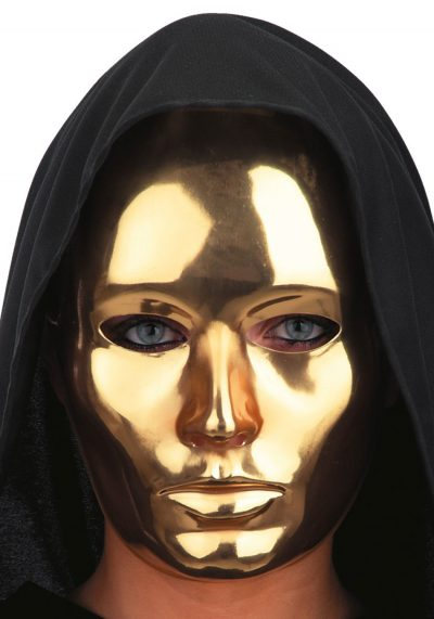 Ansiktsmask - Gold Metallic face - Eys wide Shut