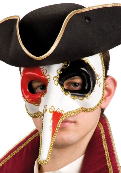 Ansiktsmask - Decorated Venetian mask with long nose