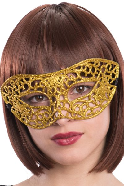 Ansiktsmask - Mask with golden glitter