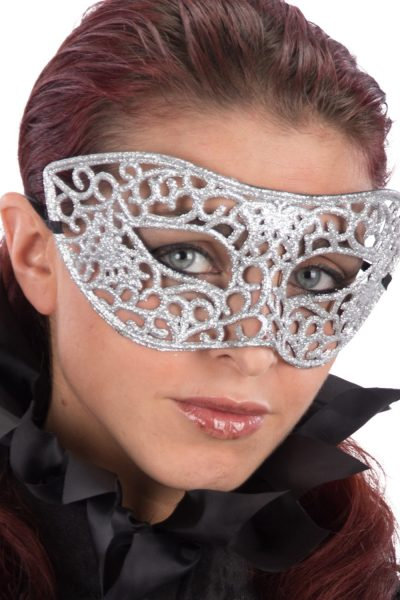 Ansiktsmask - Mask with silver glitter
