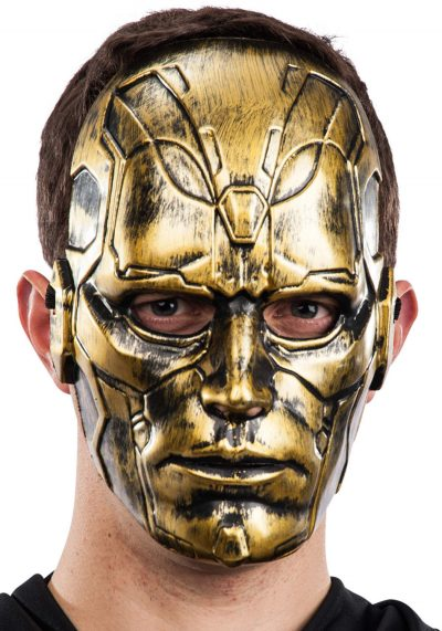 Ansiktsmask - Gold man mask