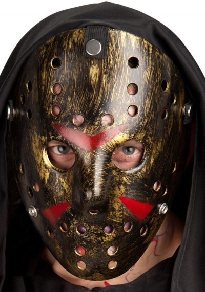 "Ansiktsmask - Hockey mask in bronse ""Friday the 13th"""