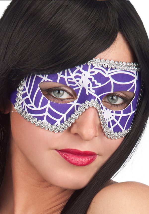 Ansiktsmask - Mask in Purple Spiderweb Fabric