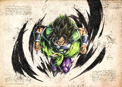 Pergament - Dragon Ball - Broly Jump