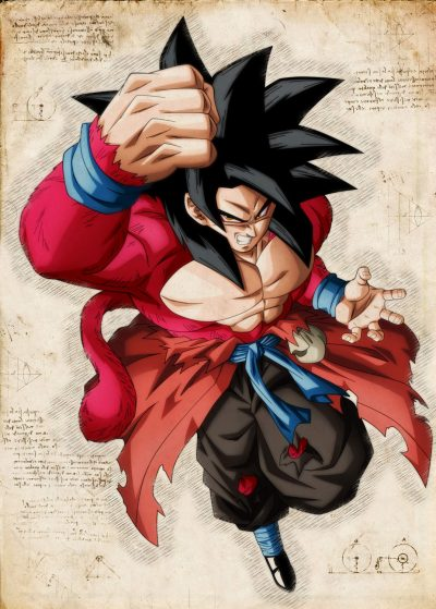 Pergament - Dragon Ball - Son-Goku Jump