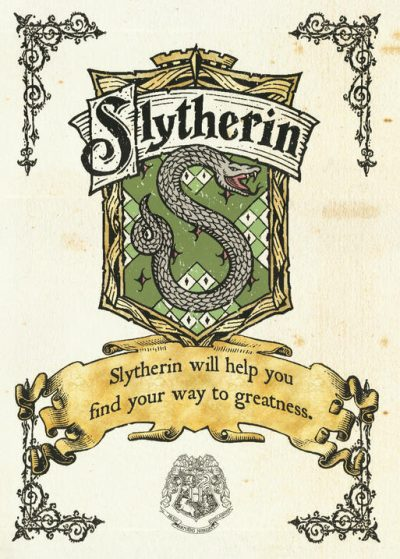 A3 Print - Harry Potter - Slytherin Crest