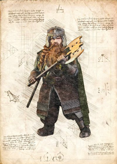 Pergament - Lord of the rings - Gimli