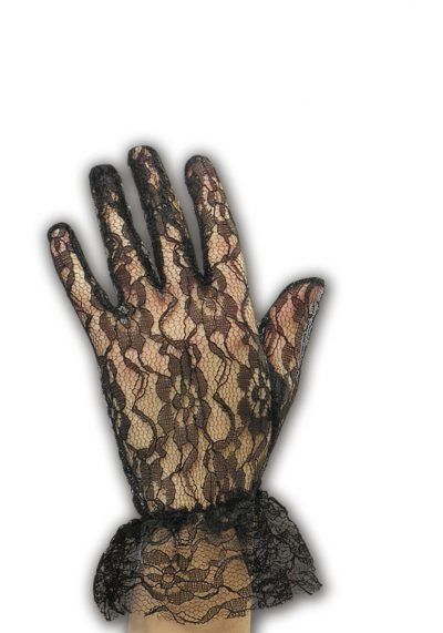 Black Lace Gloves 24 cm