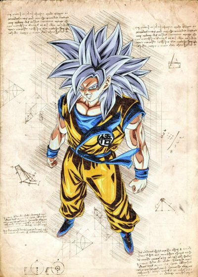 Pergament - Dragon Ball - Goku
