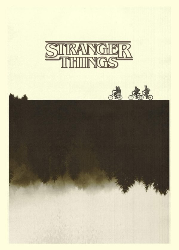 A3 Print - Stranger Things - Bikes