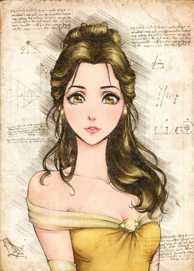 Pergament - Disney - Beauty and the beast - Belle