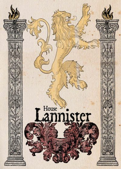 A3 Print - Game Of Thrones - House Lannister