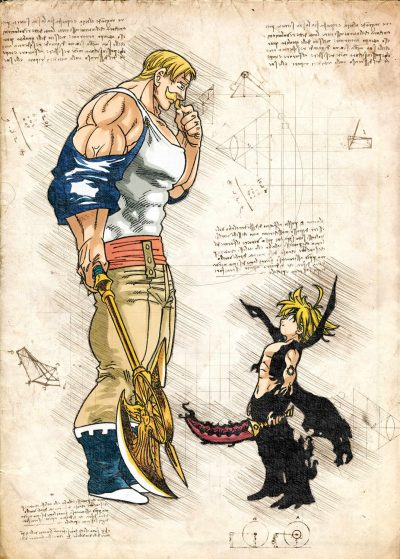 Pergament - 7 Deadly Sins - Escanor and Meliodas