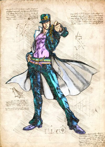 Pergament - JoJo - Jojo Jotaro Kujo all star battle