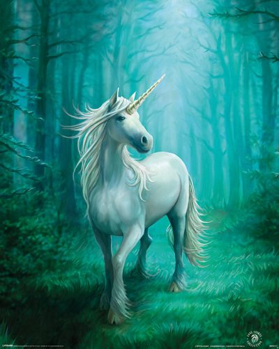 Anne Stokes - Forest Unicorn, Enhörning