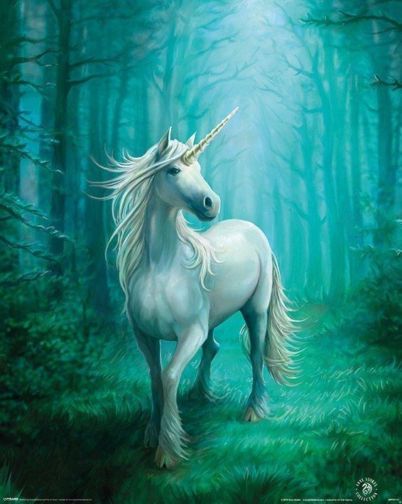 Anne Stokes - Forest Unicorn, Enhörning