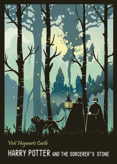 A3 Print - Harry Potter - Visit Hogwarts Castle